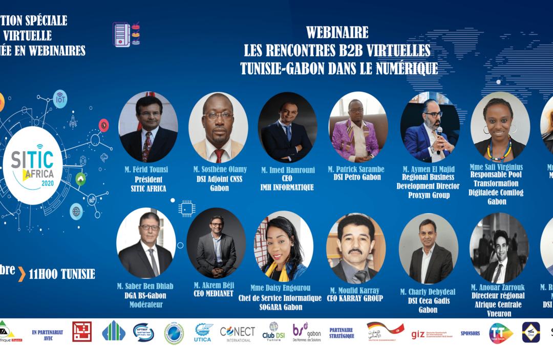 WEBINAIRE LES RENCONTRES B2B VIRTUELLES TUNISIE-GABON DANS LE NUMÉRIQUE