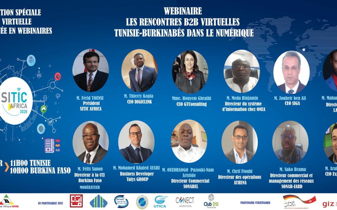 WEBINAIRE RENCONTRES B2B VIRTUELLES TUNISIE-BURKINABÉS DANS LE NUMERIQUE