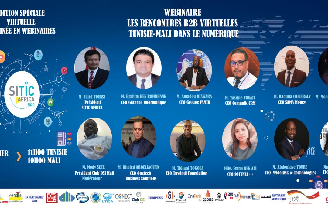 WEBINAIRE RENCONTRES B2B VIRTUELLES TUNISIE-MALI DANS LE NUMERIQUE
